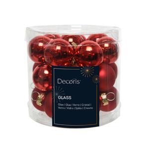 Boite de 24 mini-boules en Verre blanc brillant et mat – Ø 2,5 cm 316661