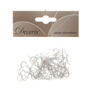 Attaches boules de Noël argent lot de 50 316792