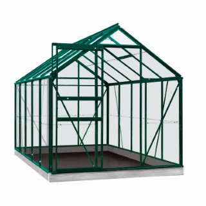 Serre Verre 6,2 m² en aluminium vert 321331