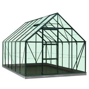 Serre Verre 9,9 m² en aluminium vert 321341