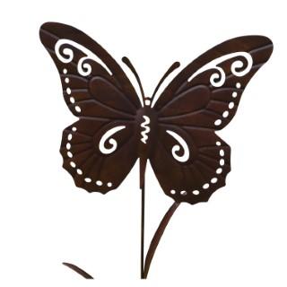 Papillon en métal Home to Garden effet rouillé 321806