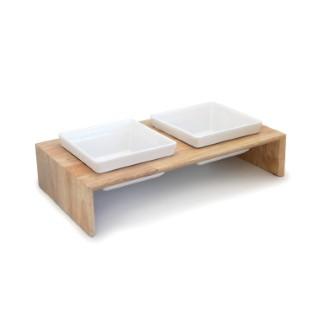 Gamelle double en bois taille L 321858