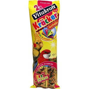 Kräcker Perruches x2 vitamines Vitakraft 180g-pour Grandes Perruches 323188