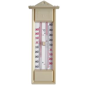 Thermomètre mini-maxi beige de 23 cm 32327