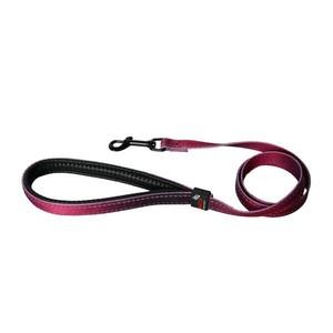 Laisse chien nylon 16 mm / 100 cm bordeaux soie 323730