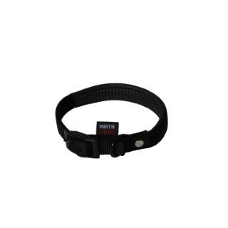 Collier chien 45cm noir confort 20mm 323947
