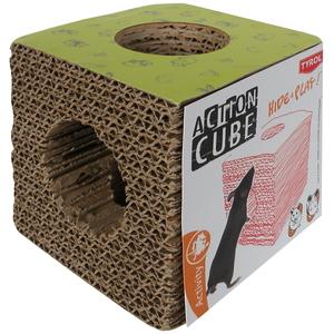 Tunnel en forme de cube en carton pour rongeurs 10 cm 325630