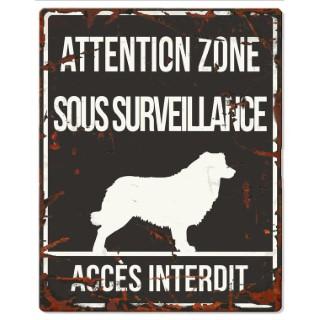 Plaque en métal noir « Attention au chien » Colley 20x25 cm 325781