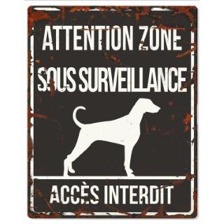 Plaque en métal noir « Attention au chien » Dalmatien 20x25 cm 325793