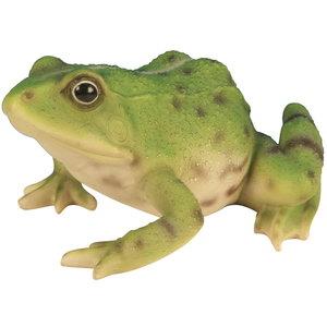 Statue de jardin grenouille verte H 15cm 330062