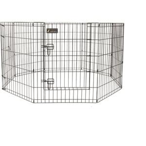 Parc pour chien en métal noir - 76 cm 330378