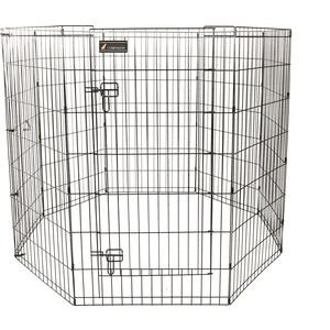 Parc pour chien en métal noir - 106 cm 330380