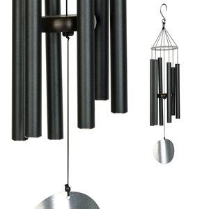 Carillon Aureole, coloris noir avec tubes en acier, H 165 cm 331449