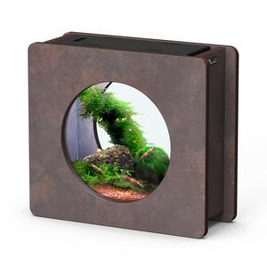 Aquarium nano fashion vision 1 rond brun oxyde 32,5 x 12,2 x 29,5 cm 332247