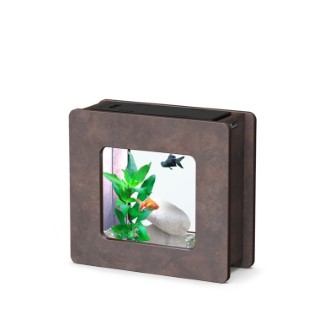 Aquarium nano fashion vision 2 carré brun oxyde 32,5 x 12,2 x 29,5 cm 332248
