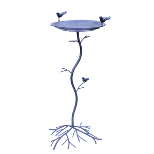 Bassin à oiseaux en forme d'arbre couleur noire – 71 cm 332589