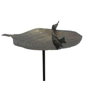 Bassin à oiseaux en forme de nénuphar noir – 125 cm de haut 332590