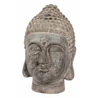 Statue de jardin tête de Bouddha Bali Antique H 29 cm 332606