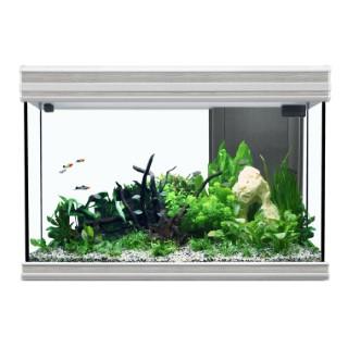 Aquarium Fusion LED Chêne Blanc 80x40x55 cm 332771