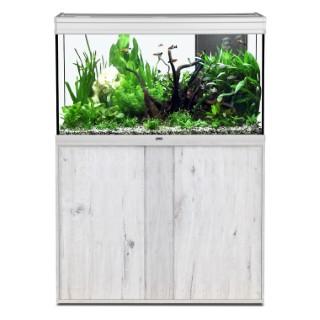 Meuble aquarium chêne blanc 100x40 cm 332899