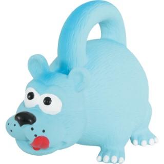 Jouet pour chien en latex bleu avec poignée 15 cm 334387