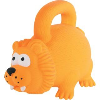 Jouet pour chien en latex orange avec poignée 15 cm 334388