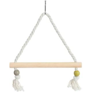Balançoire en corde avec perchoir de bois 334495