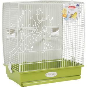 Cage à oiseaux arabesque adèle verte L. 40 x l. 31 x H. 44 cm 334533