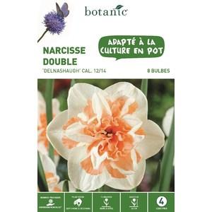 Bulbe narcisse double delnashaugh blanc et orange botanic® x 8 334699