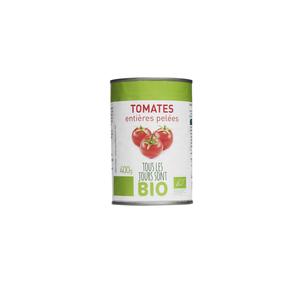 Tomates entières pelées Bio 400 g 334831