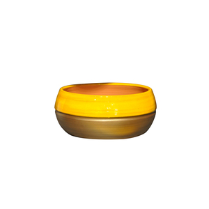 Coupe Melilo Ibiza Sunshine en terre cuite émaillée H 11 x Ø 24 cm 334843
