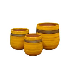 Pot Saintrop Ibiza Sunshine en terre cuite émaillée H 26 x Ø 23 cm 334857