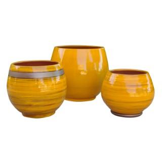 Pot Bahia Ibiza Sunshine en terre cuite émaillée H 31 x Ø 25 cm 334886