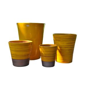 Pot Sydney Ibiza Sunshine en terre cuite émaillée H 44 x Ø 37 cm 334896