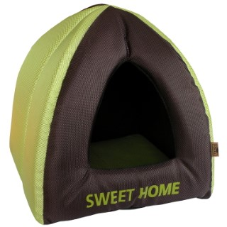 Tipi Rongeur Sweet home marron et vert 30x30x30 cm 335065