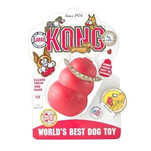 Jouet Chien Kong 10cm classic large rouge 33507