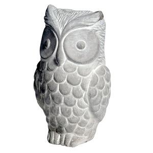 Hibou décoratif béton 18 cm 335407