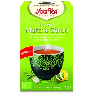 Yogi Tea Thé vert matcha citron – La boîte de 17 sachets 337420