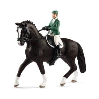 Cavalière saut d'obstacles sur cheval Série Horse club 15x8,5x18 cm 341097