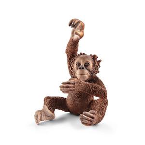 Figurine jeune Orang-outan Série Animaux sauvages 3,7x4x5,3 cm 341167