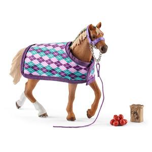 Figurine Pur-sang anglais couverture Série Horse club 18,7x5,2x16,5 cm 341291