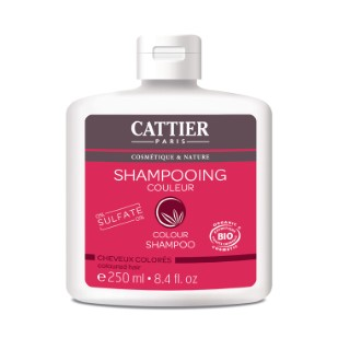 Shampoing couleur Cattier sans sulfate bio en flacon de 250 ml 341392