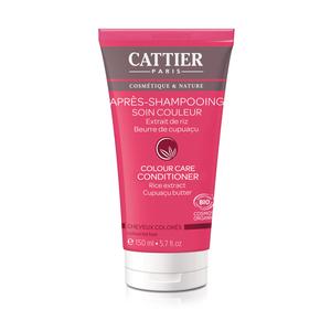 Après-shampoing soin et couleur Cattier bio en tube de 150 ml 341394