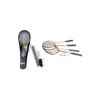 Jeu de badminton de 4 raquettes, 2 volants et filet en sac zippé 341427