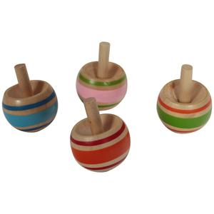 Toupie boule en bois 3x3,5x3cm 341463