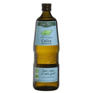 Huile de colza désodorisée bio en bouteille de 1 L 341488