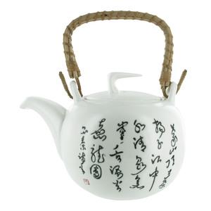 Théière Jiangxi en faïence blanche 1 L 341658