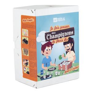 Kit Champignons de Paris bio mini carton 20x15x10 cm (À partir de 5 ans) 341797