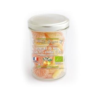 Bonbons bio en forme de quartier au miel, orange et citron 150 g 341866