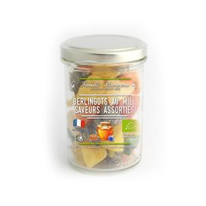 Bonbons bio en forme de berlingots rayés au miel en pot de 170 g 341867